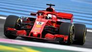 Nur auf Platz fünf: Sebastian Vettel.