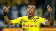 Auch zwei Tore von Aubameyang brachten Dortmund keinen Punkt.