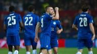 Jamie Vardy jubelt für Leicester