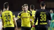 Aus und vorbei: Marcel Schmelzer und der BVB scheiden in Monaco aus.