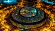 Im Luschniki-Stadion in Moskau, das derzeit renoviert wird, findet das WM-Finale 2018 statt