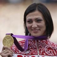 Hürdenläuferin Natalja Antjuch gewann bei Olympia 2012 in London die Goldmedaille.