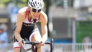 Anne Haug ist bislang die einzige Triathletin, die Deutschland vertreten darf bei Olympia in Rio.