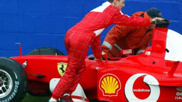 Barrichello schneller als Schumacher