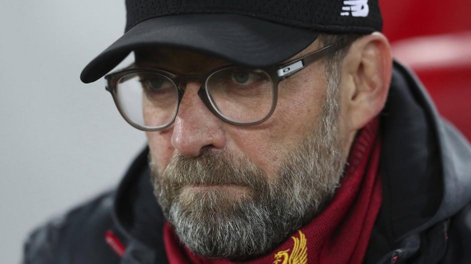 Gegentreffer in der ersten Hälfte: Liverpool-Trainer Jürgen Klopp mit seinem Team in der Champions League
