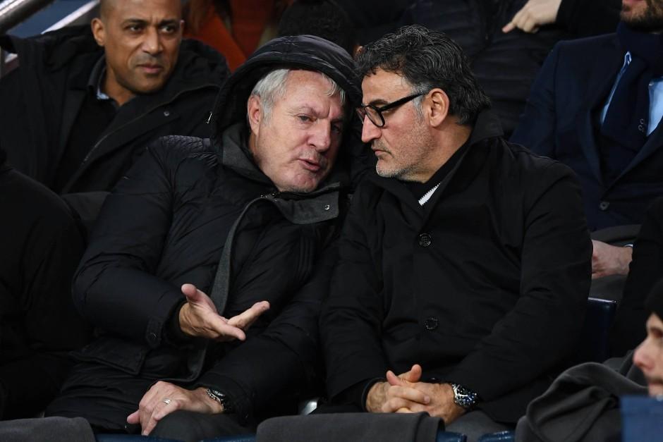 Spart nicht mit Kritik: Luis Fernandez (Mitte), hier neben Christophe Galtier