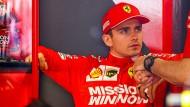 Für Sebastian Vettels Teamkollegen Charles Leclerc (Bild) endete die Qualifikation frühzeitig.