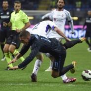 HIngefallen: Lukas Podolski verliert mit Inter gegen Florenz
