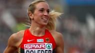 Überwindet alle Hürden: Cindy Roleder gewinnt EM-Gold.