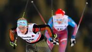 Eine Allrounderin: Nicole Fessel kann sprinten, abfahren und klettern.