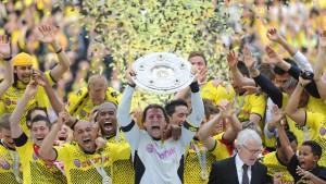 Frankfurt steigt ab - Wolfsburg bleibt drin - Dortmund am Ziel