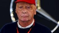 """""""Ich weiß nicht, wer diese Geschichten immer in die Welt setzt"""": Niki Lauda."""