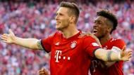 Dann halt ein Abwehrspieler: Nur Niklas Süle (links) trifft für die Bayern.
