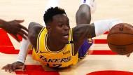 Für Dennis Schröder sind die NBA-Play-offs mit den Lakers schon wieder vorbei.