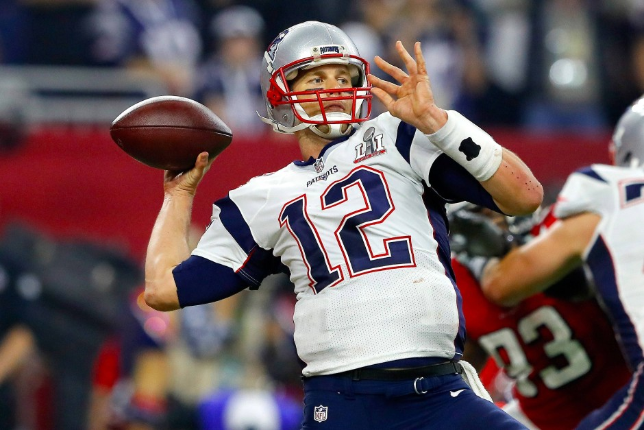 In Aktion: Brady beim Pass