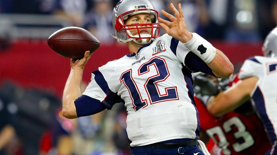 In Aktion: Brady beim Pass