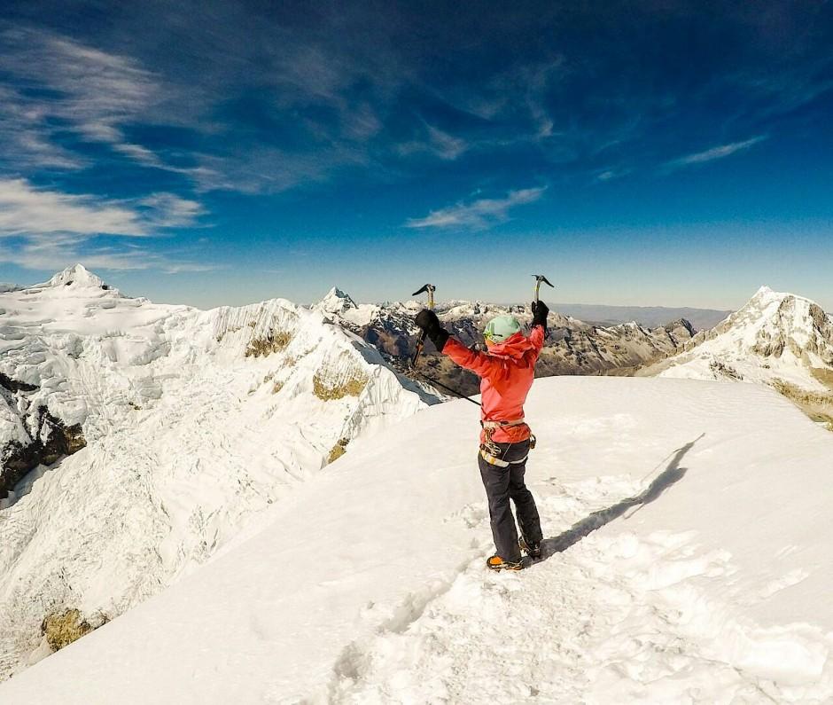 Zwei Gipfel, ein Gefühl: Auf dem Podium fühlt es sich genauso an wie auf dem Berg.