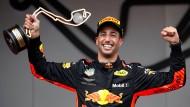 Strahlender Sieger im Fürstentum: Daniel Ricciardo gewinnt.
