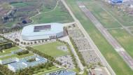 Stadion mit Landebahn: Hier soll das Stadionprojekt des SC Freiburg Wirklichkeit werden