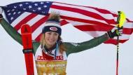 In Are wird sie zum vierten Mal nacheinander Slalom-Weltmeisterin