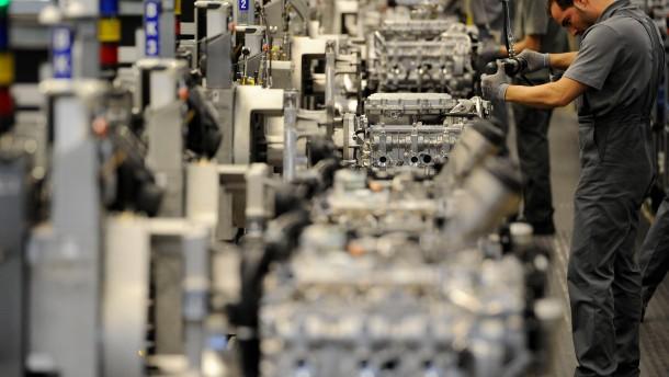 Die deutsche Industrie muss einen unerwartet hohen Rückgang an Aufträgen hinnehmen