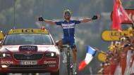 Der größte Quickstep-Flors-Erfolg der laufenden Tour:  Julian Alaphilippe gewinnt in Le Grand-Bornard