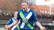 Sie schaffte die Vorentscheidung: Alexandra Popp nach dem Tor zum 3:2 in Malmö