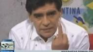 Maradonas Mittelfinger