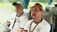 Deutscher Fanbus auf dem Weg nach Lille