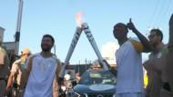 Olympisches Feuer kurz vor Rio