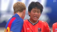 Kleine Fußballer zeigen echtes Fairplay