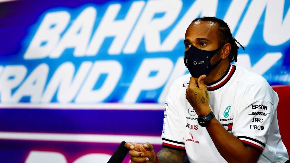 Im Fokus: Rennfahrer Lewis Hamilton in Bahrein