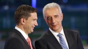 Wollen es miteinander versuchen: SPD-Chef Dulig (l.) und Sachsens Ministerpräsident Tillich