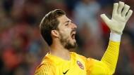 Kevin Trapp und Eintracht Frankfurt hoffen noch auf den Einzug ins Halbfinale der Europa League.