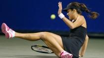 Nur zwischendurch mal ausgerutscht: Ana Ivanovic hält sich gegen Angelique Kerber sonst schadlos