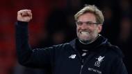 Blendend gelaunt: Jürgen Klopp nach dem 4:0-Sieg des FC Liverpool.