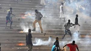 Randale im Senegal