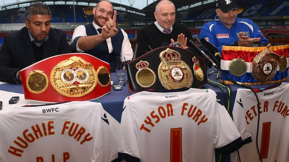 Erstmal hat Fury die drei WM-Gürtel – zumindest bis zum Rückkampf.