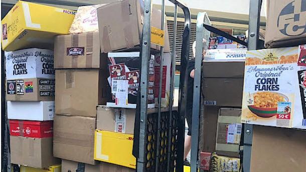 Hunderte Pakete Cornflakes für den DFB