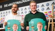 "Mannschaftsfoto: Mohammed ""MoAuba"" Harkous (links) und Michael ""MegaBit"" Bittner bilden die deutsche Nationalmannschaft."