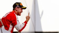 Wieder ganz oben: Sebastian Vettels Fingerzeig
