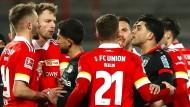Nach dem Spiel zwischen Union Berlin und Bayer Leverkusen kam es zu Tumulten.
