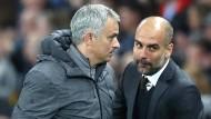 Ziemlich beste Rivalen: José Mourinho (links) und Pep Guardiola.