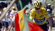 Mit wehenden Fahnen den Berg hinauf: Chris Froome gewinnt in den Pyrenäen