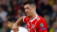 Gezeichnet, aber nicht geschlagen: Robert Lewandowski und die Bayern.