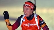 Das war knapp: Laura Dahlmeier verpasst das Podest