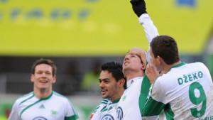 Dzeko trifft doppelt bei Wolfsburger Aufholjagd