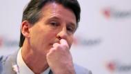 Die Zweifel werden immer größer: IAAF-Chef Lord Sebastian Coe