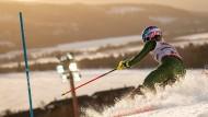 Im Frühlingsschnee zum Slalom-Gold: Mikaela Shiffrin im zweiten Lauf