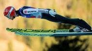Auch in Garmisch ist Markus Eisenbichler wieder bester Deutscher.